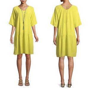 Dresses & Skirts - Eileen Fisher Viscose Crepe Drop Waist Dress